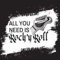 Rock music festival, hand drawn grunge vector Royalty Free Stock Photo