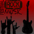 Rock music festival template Royalty Free Stock Photo