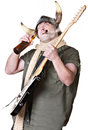 Rock Musician Drinking and Smoking Royalty Free Stock Photography
