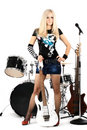 Rock-n-roll and Anna Royalty Free Stock Images