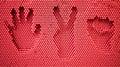 Rock paper scissors handprint Stock Images