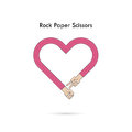 Rock Paper Scissors for it sign.Hand of businessmans with Rock P