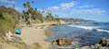 Rock Pile Beach below Heisler Park in Laguna Beach. California. Royalty Free Stock Photo