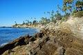 Rock Pile Beach below Heisler Park, Laguna Beach, California Royalty Free Stock Photo