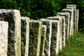 Rock pillar fence Royalty Free Stock Photography
