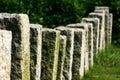 Rock pillar fence Royalty Free Stock Photography