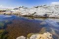 Rock pool near bingi bingi point bingie near morua aus nsw australia Stock Photos