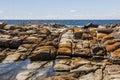 Rock pool near bingi bingi pount bingie near morua australia nsw Stock Images