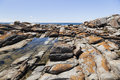 Rock pool near bingi bingi pount nsw australia bingie morua Stock Photo