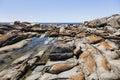 Rock pool near bingi bingi pount nsw australia bingie morua Stock Photo