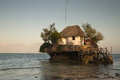 The Rock Restaurant located on Michamwi-Pingwe beach Zanzibar, Royalty Free Stock Photo