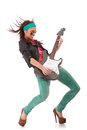 Rock and roll babe Royalty Free Stock Photo