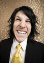 Rock and Roll Businessman with a Big Smile Royalty Free Stock Photo