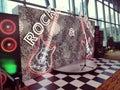 Rock and Roll Glitter Photowall Royalty Free Stock Photo