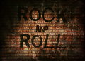 Rock and roll music word Royalty Free Stock Photo