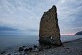 Rock Sail on Black Sea Royalty Free Stock Photo