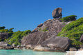 Rock Sail on Similan Royalty Free Stock Photo