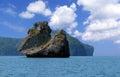 Rock-a sailing ship Royalty Free Stock Photo