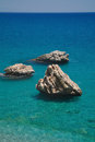 Rock and sea . Royalty Free Stock Images