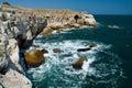 Rock sea coast Tulenovo Royalty Free Stock Photo