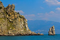 Rock and sea gaspra the sail at the cape limen burun big yalta district crimea ukraine Royalty Free Stock Photo