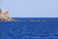Rock in the sea near Crete island Stock Image