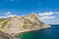 Rock and sea noviy svet crimea ukraine Royalty Free Stock Photography