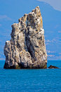 Rock and sea the sail at the cape limen burun gaspra big yalta district crimea ukraine Stock Photos