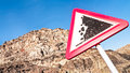 Rock slide sign Royalty Free Stock Photo
