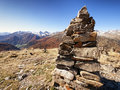Rock stack at the alps Stock Image