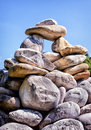 Rock stack rocks at a creek Stock Photography