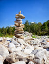 Rock stack rocks at a creek Royalty Free Stock Image