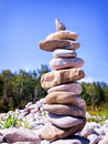 Rock stack rocks at a creek Royalty Free Stock Photography