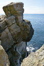 Rock stack or topple near lulworth cove dorset Royalty Free Stock Photography