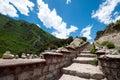 Rock stair a way on tibetan plateau Stock Image
