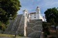 Rock stairs to the bratislava castle slovakia Stock Photo