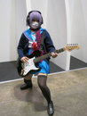 Rock star cosplay girl a dressed up as a character at a convention on rocker chic Stock Images