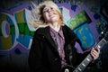 Rock star di furia Fotografia Stock