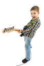 Rock star kid Royalty Free Stock Photo