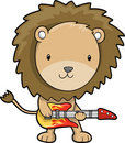 Rock Star Lion Vector Royalty Free Stock Photography