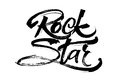 Rock Star. Modern Calligraphy Hand Lettering for Serigraphy Print