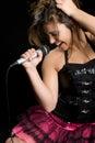 Rock Star Singer Royalty Free Stock Image