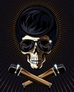 Rock star skull vector