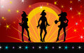 Rock Star Witches Royalty Free Stock Photos