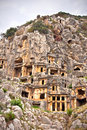 Rock tombs in Myra Royalty Free Stock Photo