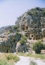 Rock tombs myra turkey Royalty Free Stock Photography