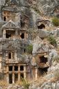 Rock tombs, Myra, Turkey Royalty Free Stock Images