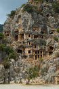 Rock tombs, Myra, Turkey Royalty Free Stock Image