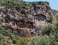 Rock Tombs in Turkey Royalty Free Stock Photo