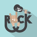 Rock typography design vector illustration Stock Photography